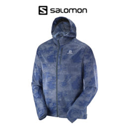 Rompeviento Salomon Fast Wing Graphic Hoodie - Hombre